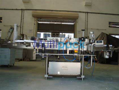 Carton L Shape Sticker Labelling Machine , Mono Carton Labeller
