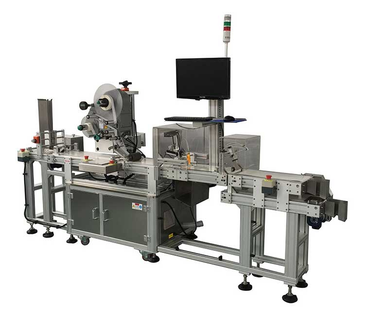 Sticker Labeling Machine With Vision Camera Systems For Detecting & Check Out Function
