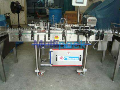 Sticker Labeler Machine With 3 Roller Pneumatic