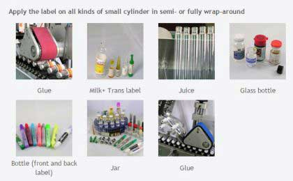 Test Tube Sticker Labeling Machine