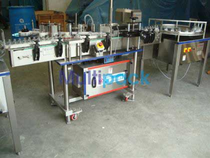 Vial Sticker Labelling Machine With Turn Table